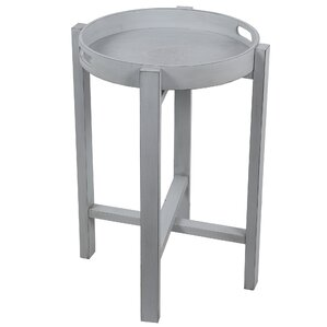 Aledo Round Tray Table by Highland Dunes