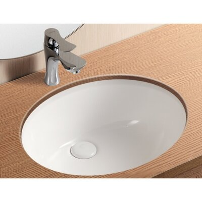 ceramica ii oval undermount bathroom sink with overflow - Undermount Bathroom Sinks