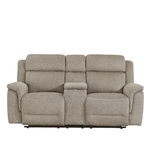 Rotman Power Console Reclining Loveseat by Red Barrel Studio