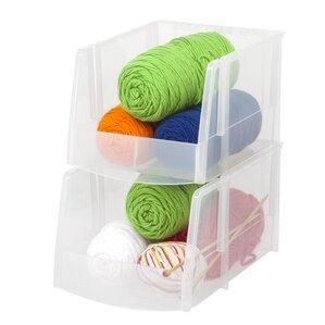 wayfair basics jumbo stacking bins set of 6