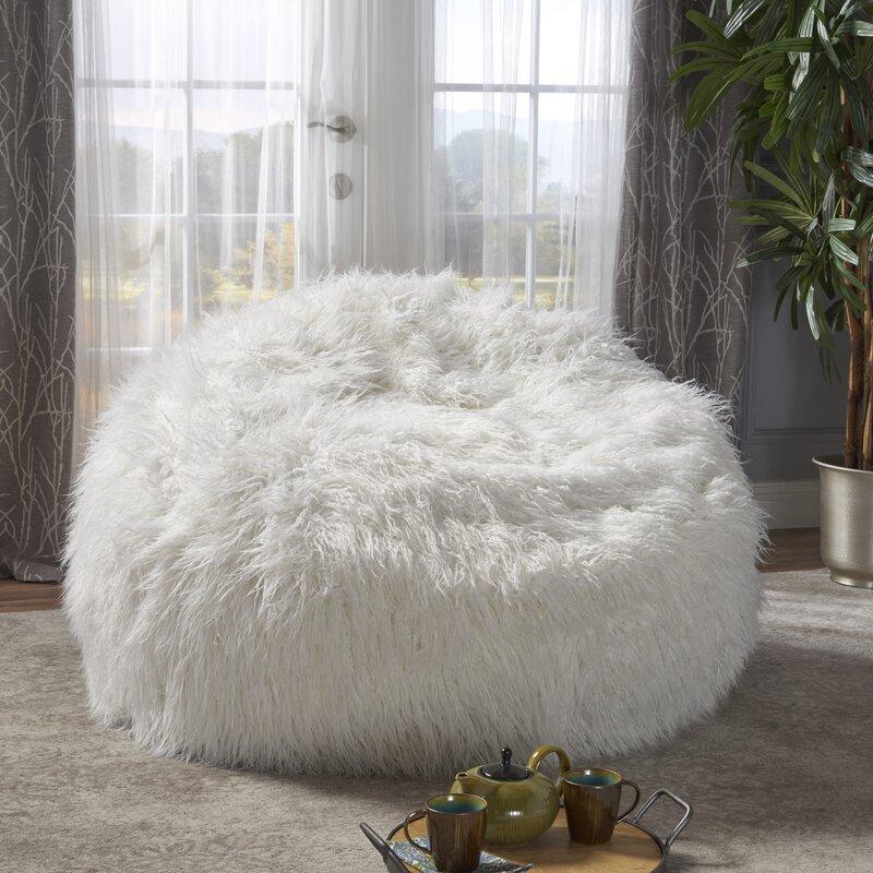 Beau Furry Bean Bag Sofa