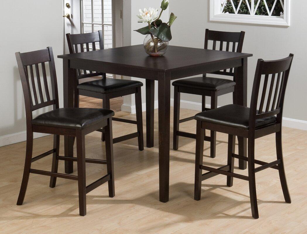 Jofran Marin Country Merlot 5 Piece Dining Table Set & Reviews ...