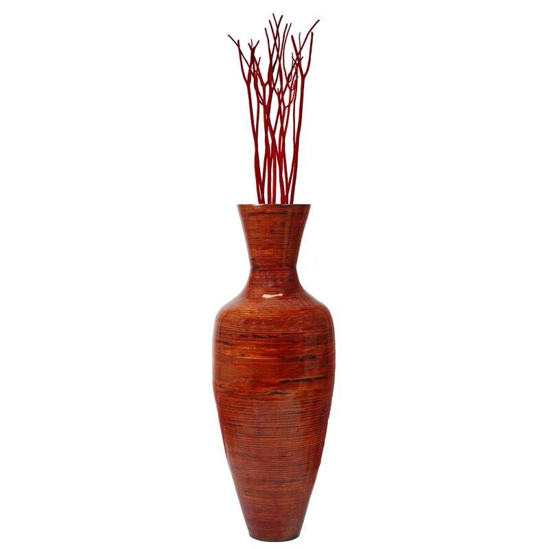 Bloomsbury Market Amaury Tall Bamboo Floor Vase Reviews Wayfair