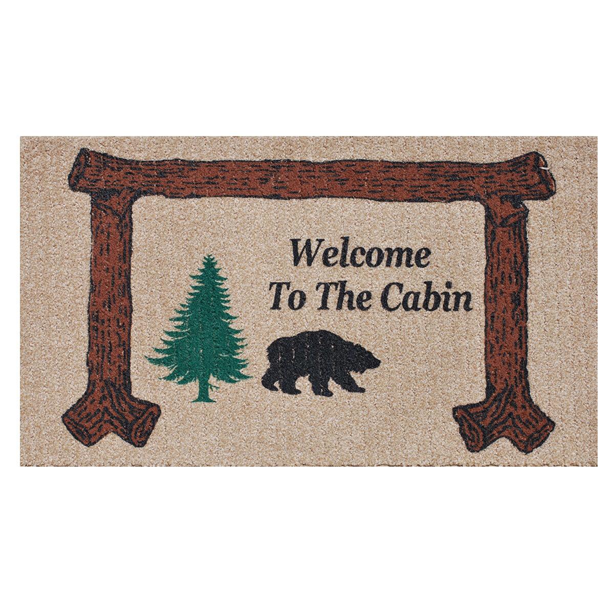 Genial Welcome To The Cabin Door Mat