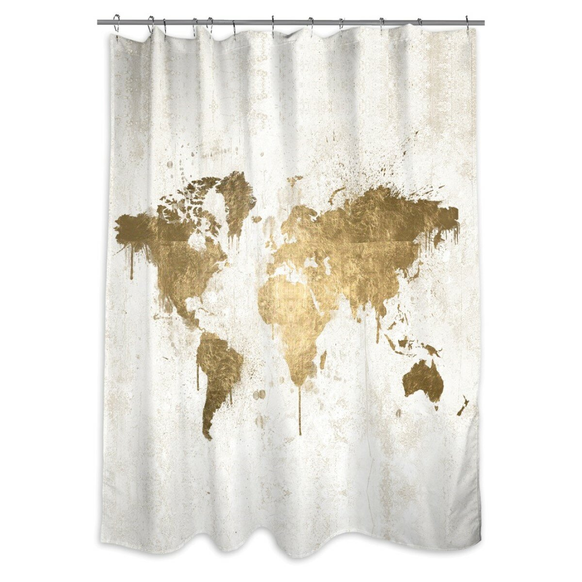 Everalda Mapamundi Single Shower Curtain Reviews