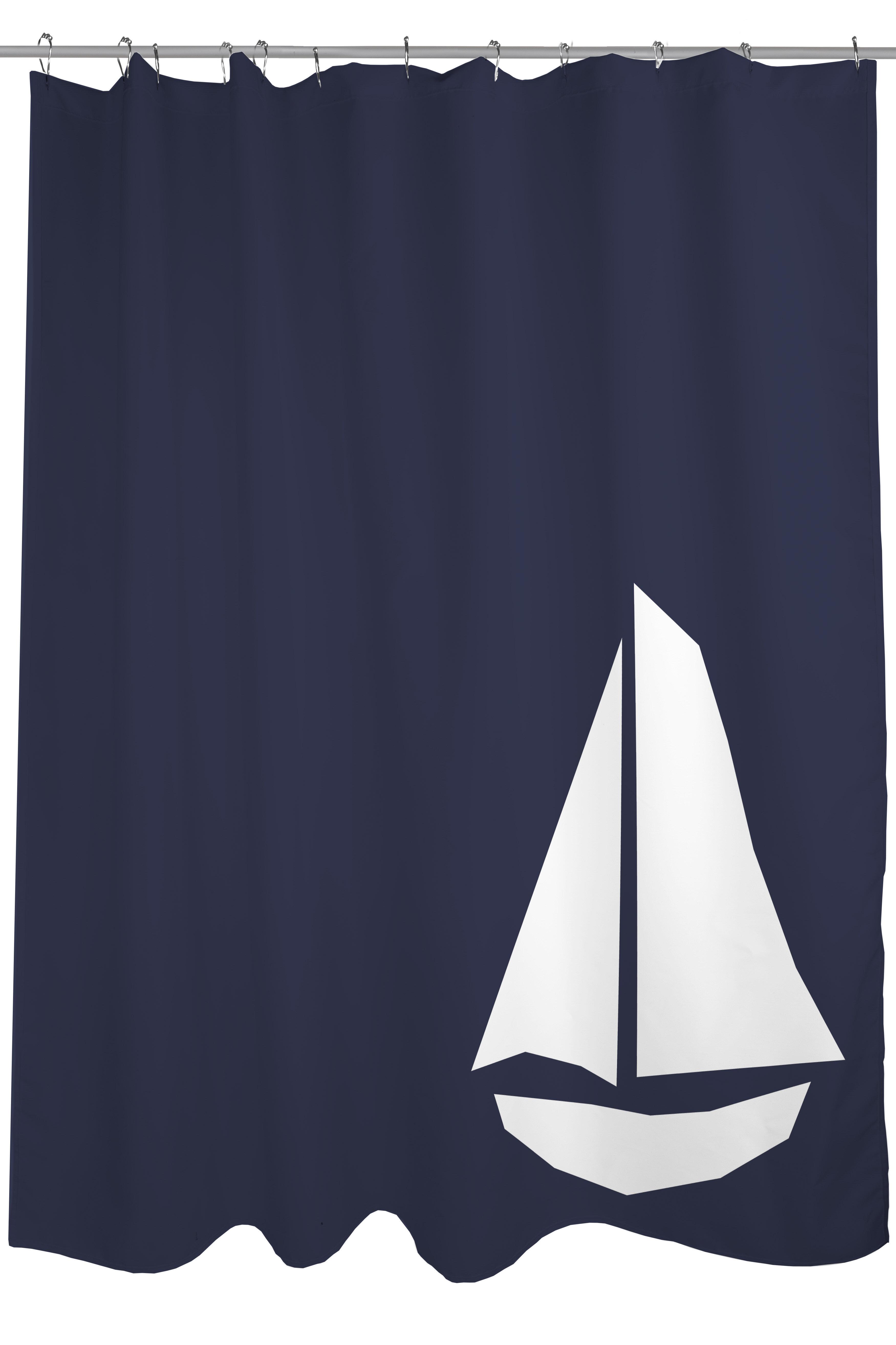 One Bella Casa Vintage Sailboat Shower Curtain Reviews