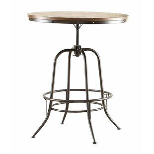 Harriet Wood/Metal Adjustable Counter Height Adjustable Dining Table