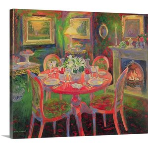 U0027The Dining Room, Ca.2000u0027 By William Ireland Painting Print On Wrapped. U0027