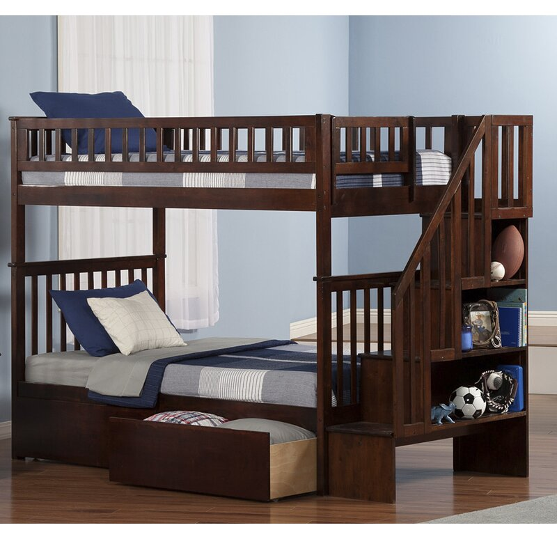Viv Rae Shyann Twin Over Twin Bunk Bed With Storage Reviews
