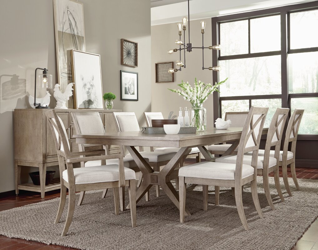 Amina Complete Trestle Dining Table
