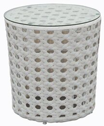 White Wicker Accent Tables Wayfair