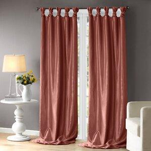 Exceptional Rivau Solid Room Darkening Tab Top Single Curtain Panel