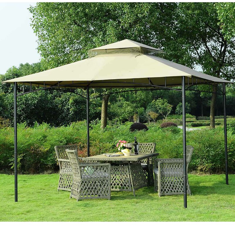 Replacement Canopy for 10u0027 W x 10u0027 D Grove Gazebo & Sunjoy Replacement Canopy for 10u0027 W x 10u0027 D Grove Gazebo u0026 Reviews ...