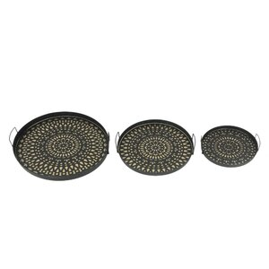 3 Piece Nested Circular Tray Set