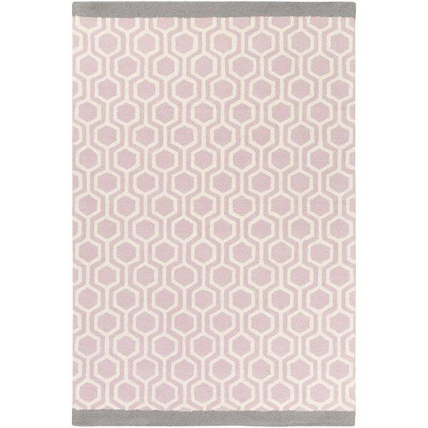 Wrought Studio Blitar Hand Crafted Light Pink Gray Area Rug Reviews Wayfair