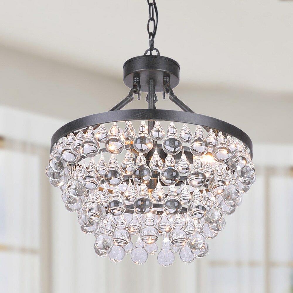 House of hampton mcmillen 5 light crystal mini chandelier reviews house of hampton mcmillen 5 light crystal mini chandelier reviews wayfair aloadofball Gallery