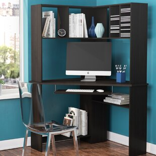 corner hutch desks you ll love wayfair rh wayfair com corner desk with hutch corner desktop hutch