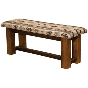 Barnwood Upholstered Bench