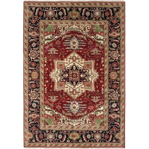 One-of-a-Kind Serapi Heritage Hand-Knotted Dark Orange Area Rug