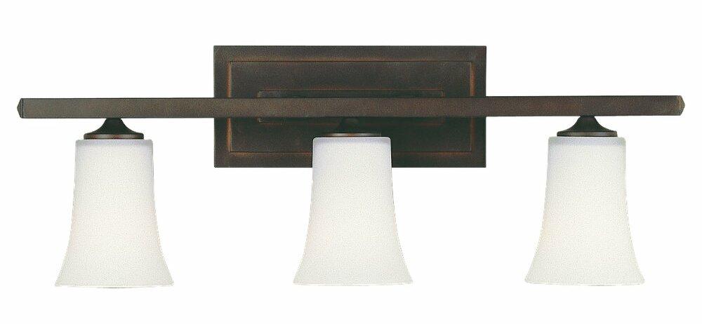 Feiss Barrington 2 Light Vanity Fixture Oil Rubbed Bronze: Feiss Boulevard 3-Light Vanity Light & Reviews