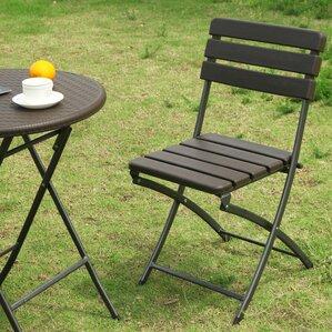 birdsell folding patio dining chair set of 2
