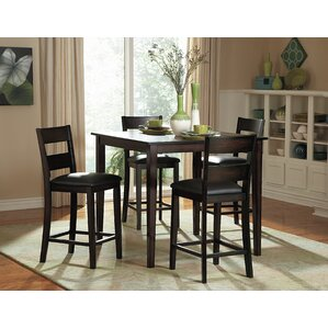 Belknap 5 Piece Counter Height Dining Set by Red..