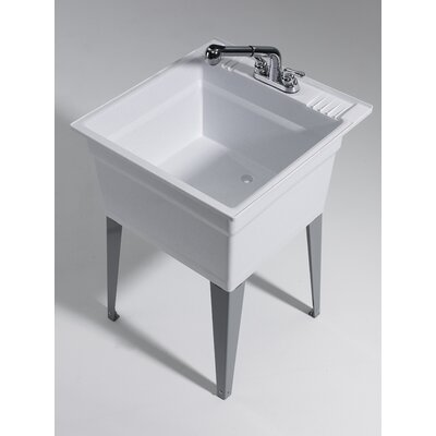 Heavy Duty 23 75 X 25 Freestanding Laundry Sink With Faucet