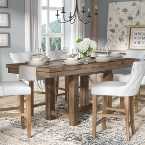 Hillary Rectangular Counter Height Extendable Dining Table by Laurel Foundry Modern Farmhouse