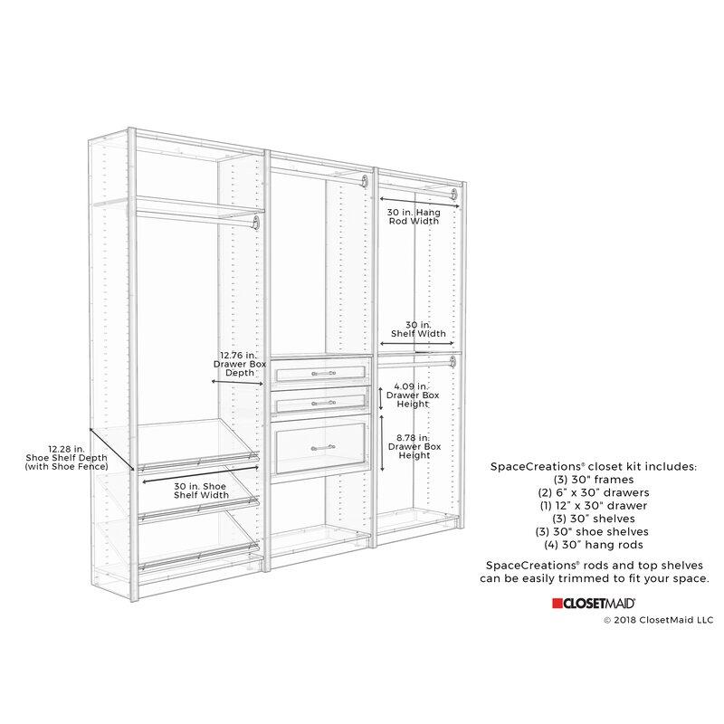 Ecreations 96 W Closet System