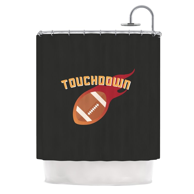 U0027Touchdown Xlviu0027 Sports Football Shower Curtain. U0027