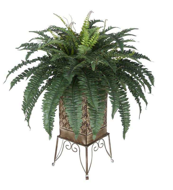 House of silk flowers artificial fern floor plant in planter artificial fern floor plant in planter mightylinksfo