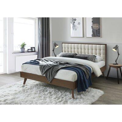 Abril Upholstered Platform Bed Corrigan Studio Color: Beige, Size: King