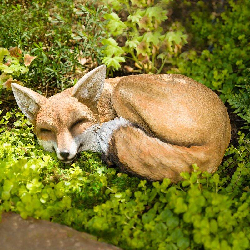 Sleeping Fox Garden Statue