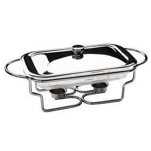 Rectangle Stainless Steel Food Warmer with Marinex Glass Dish by All Home
