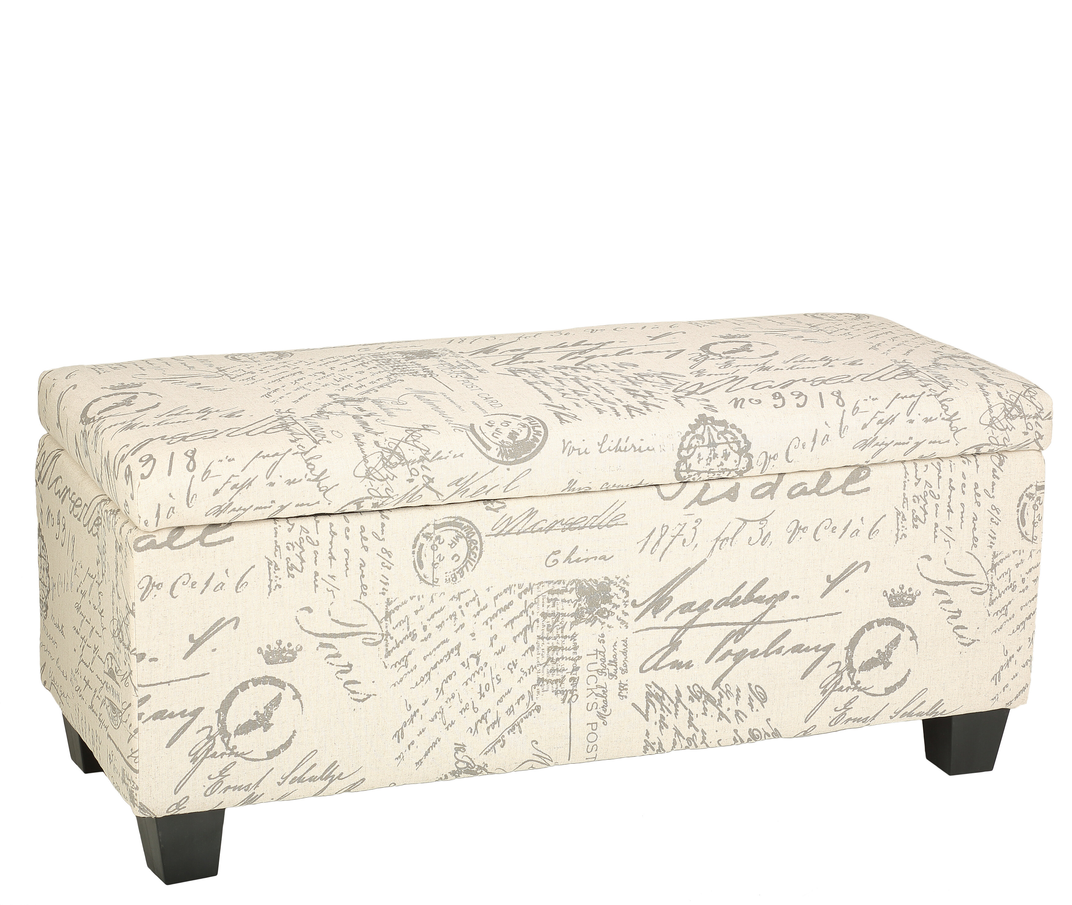 Cool Lemieux Fabric Storage Bench Gmtry Best Dining Table And Chair Ideas Images Gmtryco