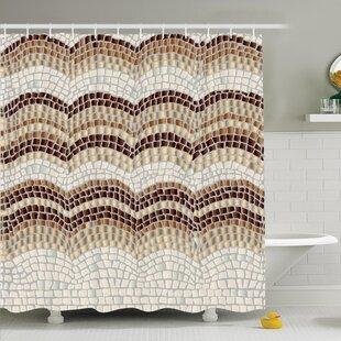 Vintage Antique Mosaic Shower Curtain Set