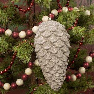 Glitter Pinecone Ornament (Set of 4)