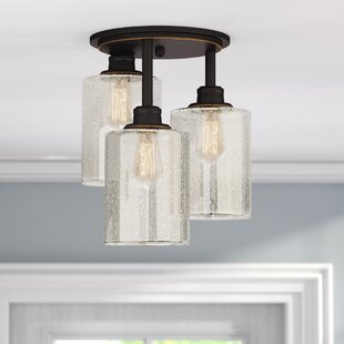 Discounts & Sales Blackman 3-Light Semi Flush Mount Gracie Oaks