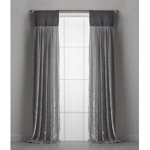 Luscious Solid Semi-Sheer Rod Pocket Single Curtain Panels