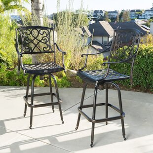Molino 48.2  Patio Bar Stool (Set of 2) : outdoor bar chair - Cheerinfomania.Com