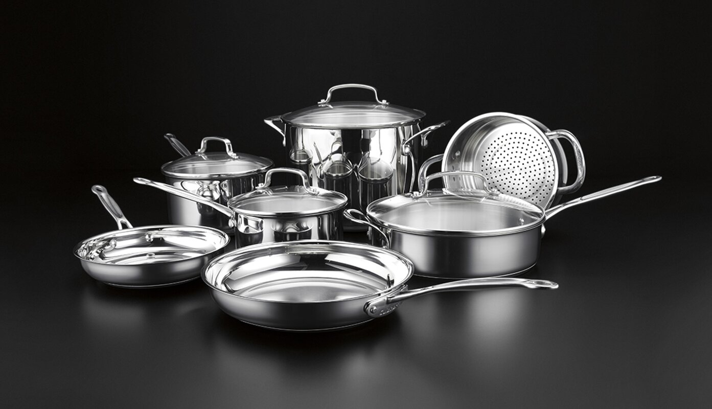 Chef 39 s classic 11 piece cookware set reviews allmodern for Kitchen all set