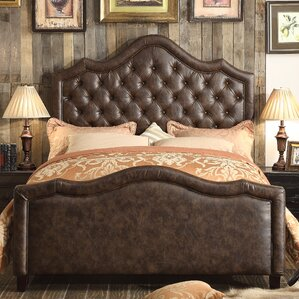 Alisa Queen Upholstered Panel Bed by Mulhouse Furniture