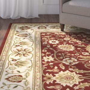 Ottis Red/Ivory Persian Area Rug