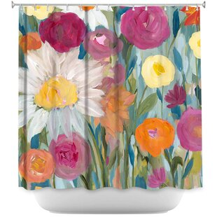 Earth At Daybreak Flowers Shower Curtain