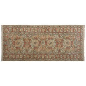 Karin Faded Hand-Knotted Wool Brown Area Rug