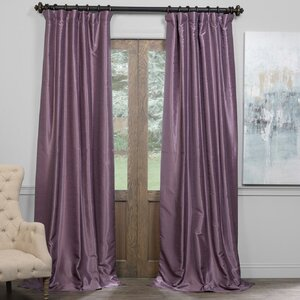 Martino Solid Blackout Thermal Tab Top Single Curtain Panel