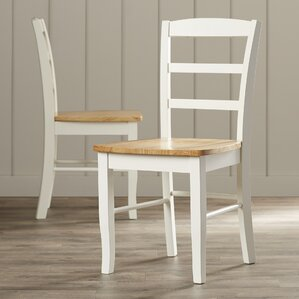 Brianne Ladderback Solid Wood Dining Chair (Set of 2) by August Grove