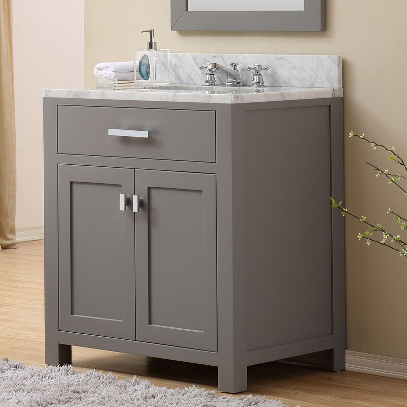 Andover Mills Raven 30 Wood Base Single Sink Bathroom Vanity Set