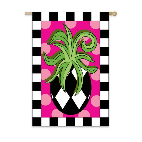Harlequin Pineapple Garden Flag