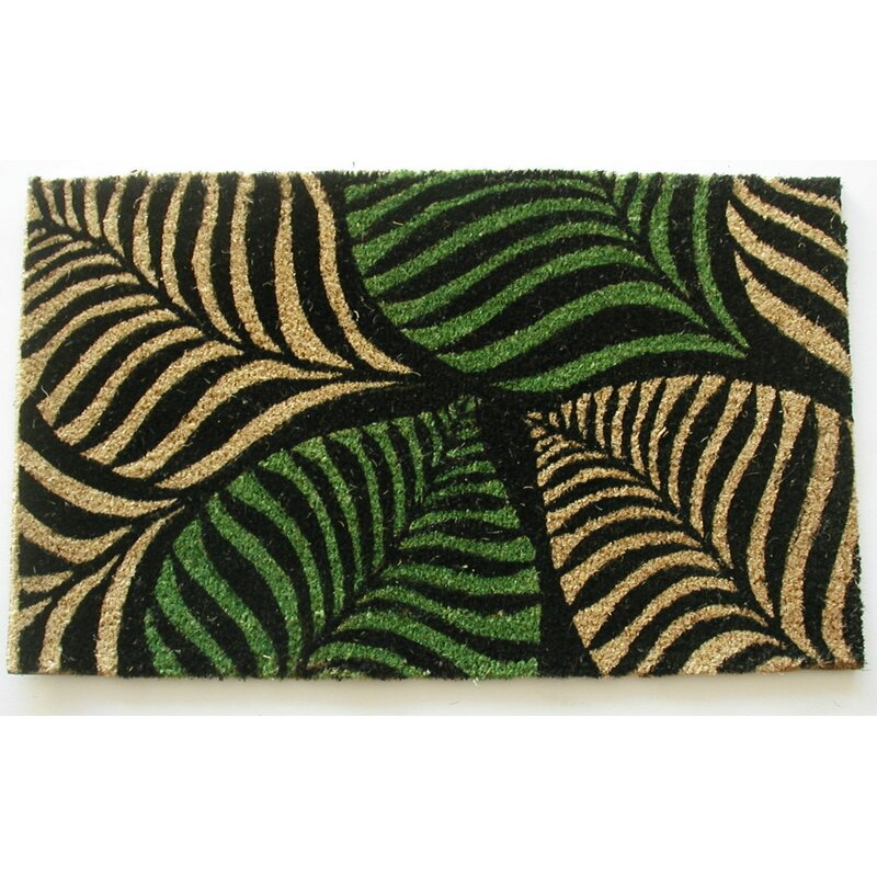 Geo Crafts Palm Leaves Doormat Wayfair
